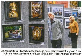 Ausschnitt: Aachener Zeitung - Lokales,  vom 02.12.2015 | Eröffnung der Jahresausstellung 2015 | Fotoclub 2000 Aachen