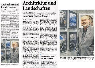 Ausschnitt: Aachener Zeitung vom 27.11.2015 | Eröffnung der Jahresausstellung 2015 | Fotoclub 2000 Aachen