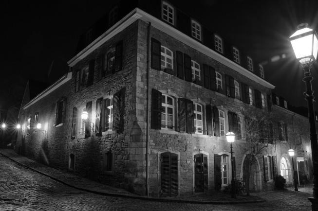 Stolberg bei Nacht | © Maria Dautzenberg | Arbeitsgruppe SW-Monochrom im Fotoclub 2000 Aachen